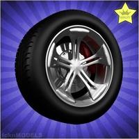 Car wheel 034 3D Model