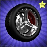 Car wheel 035 3D Model
