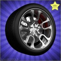 Car wheel 037 3D Model