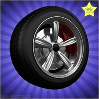 Car wheel 040 3D Model