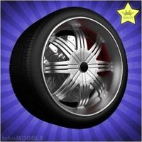 Car wheel 041 3D Model