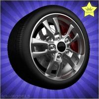 Car wheel 048 3D Model