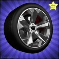 Car wheel 049 3D Model