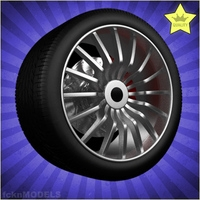 Car wheel 051 3D Model