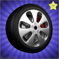 Car wheel 052 3D Model