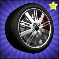 Car wheel 053 3D Model