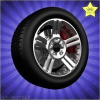 Car wheel 061 3D Model