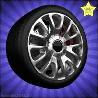 Car wheel 065 3D Model