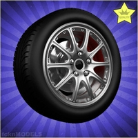 Car wheel 071 3D Model