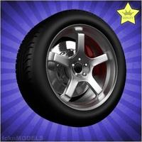 Car wheel 072 3D Model