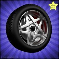 Car wheel 073 3D Model
