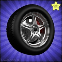 Car wheel 074 3D Model
