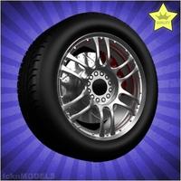 Car wheel 075 3D Model