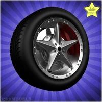 Car wheel 076 3D Model