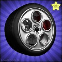 Car wheel 077 3D Model