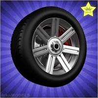 Car wheel 078 3D Model