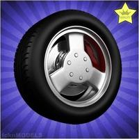 Car wheel 081 3D Model
