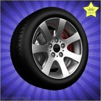 Car wheel 083 3D Model