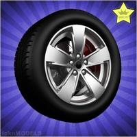 Car wheel 085 3D Model