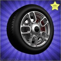 Car wheel 086 3D Model