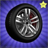 Car wheel 087 3D Model