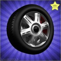 Car wheel 088 3D Model