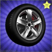 Car wheel 090 3D Model