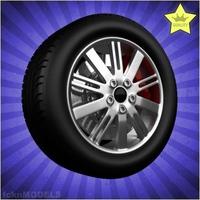 Car wheel 091 3D Model