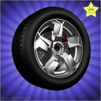Car wheel 093 3D Model