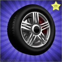 Car wheel 092 3D Model