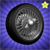 Car wheel 094 3D Model