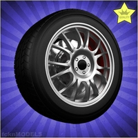 Car wheel 095 3D Model