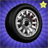 Car wheel 096 3D Model