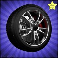 Car wheel 097 3D Model