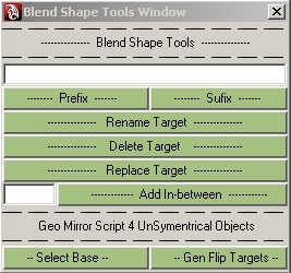 blendShapeTools for Maya