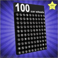 PREMIUM 100 Car wheels collection 3D Model