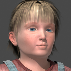 Little boy 3D Model