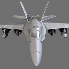 airplane F18 3D Model