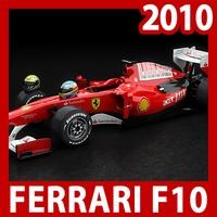 2010 F1 Ferrari F10 3D Model