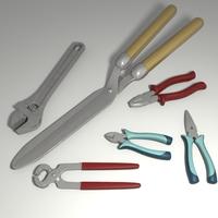 Hand tools set 3D Model
