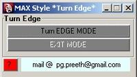 Free Max Style Turn Edge for MaYa for Maya 1.0.0 (maya script)