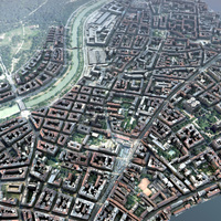 European City  Set 3D Model