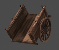 Old cart lowpoly 3D Model