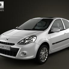 Renault Clio 3door 2010 3D Model