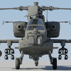 AH-64D Apache Longbow  3D Model