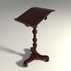 Wooden bookstand 3D Model
