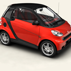 Smart ForTwo Coupe 2009 3D Model