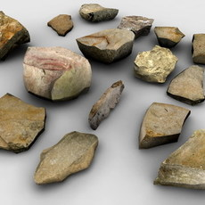 Stones collection 3D Model