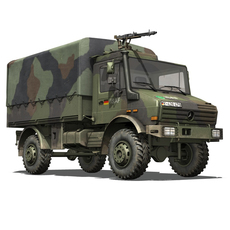 Mercedes Benz Unimog U1300 German Army ISAF 3D Model