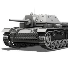 SU-76i Soviet Assault gun  3D Model